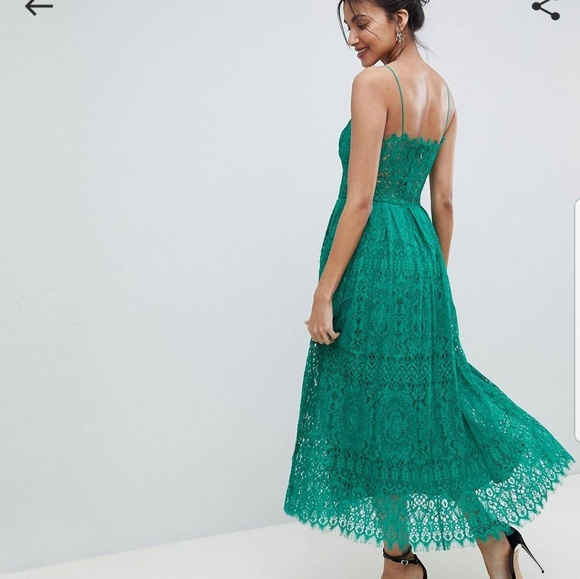 89959c072274 ASOS Dresses | Tall Lace Cami Midi Prom Dress | Poshmark